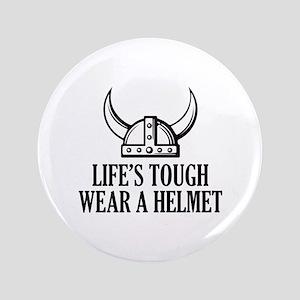 """Wear A Helmet 3.5"""" Button"""