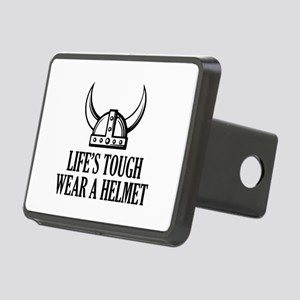 Wear A Helmet Rectangular Hitch Cover