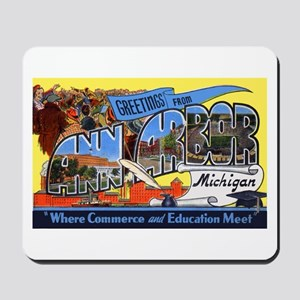 Ann Arbor Michigan Greetings Mousepad