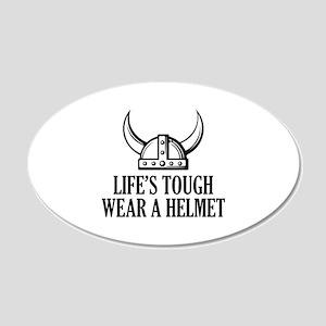 Wear A Helmet 22x14 Oval Wall Peel