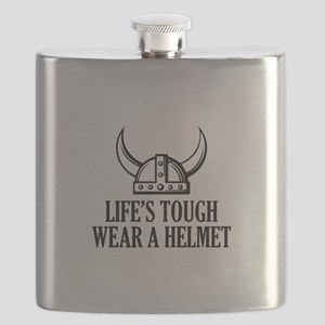 Wear A Helmet Flask