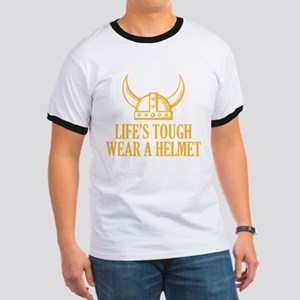 Wear A Helmet Ringer T