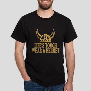 Wear A Helmet Dark T-Shirt