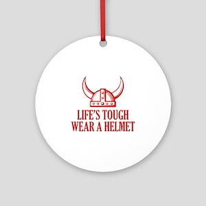 Wear A Helmet Ornament (Round)