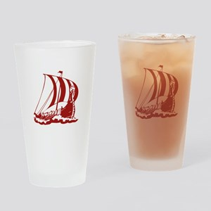 Viking Ship Drinking Glass
