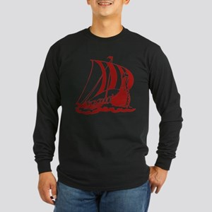 Viking Ship Long Sleeve Dark T-Shirt