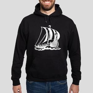 Viking Ship Hoodie (dark)