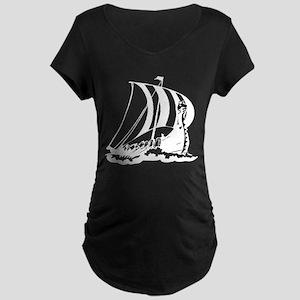 Viking Ship Maternity Dark T-Shirt