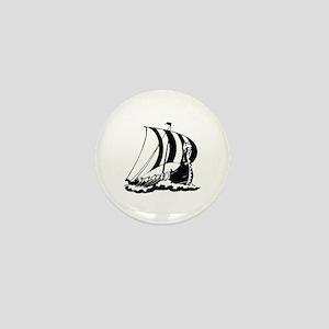 Viking Ship Mini Button