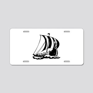 Viking Ship Aluminum License Plate