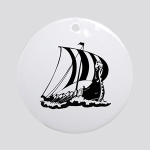 Viking Ship Ornament (Round)