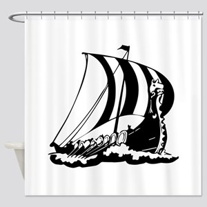 Viking Ship Shower Curtain