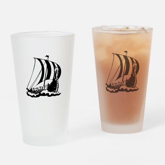 Viking Ship Drinking Glass
