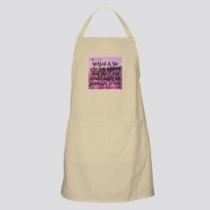 Blessed is She Light Apron