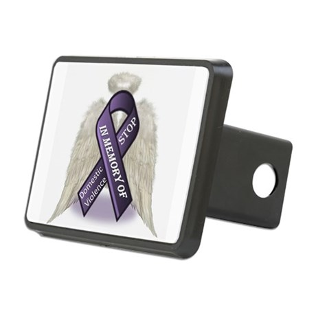 Domestic Violence Angel Rectangular Hitch Cover