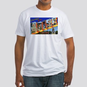 Boise Idaho Greetings (Front) Fitted T-Shirt