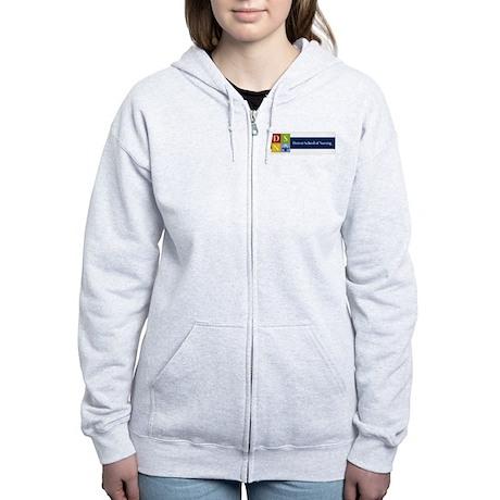 color logo short Women's Zip Hoodie