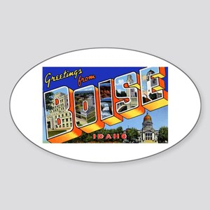 Boise Idaho Greetings Oval Sticker