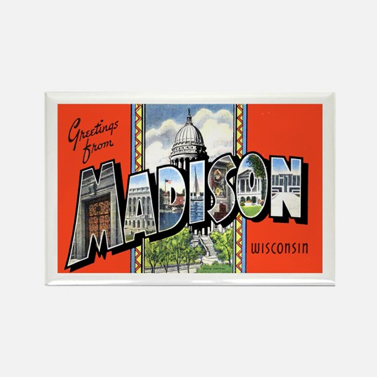 Madison Wisconsin Greetings Rectangle Magnet