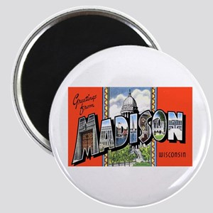 Madison Wisconsin Greetings Magnet