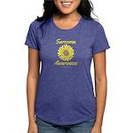 Sarcoma Awareness Ribbon Sunflower Womens Tri-blen