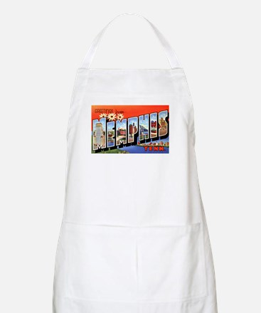 Memphis Tennessee Greetings BBQ Apron