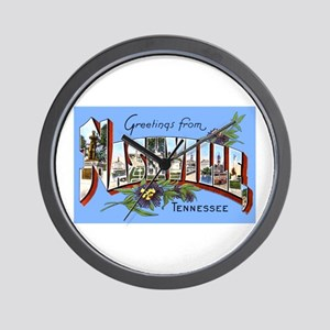 Nashville Tennessee Greetings Wall Clock