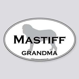 Mastiff GRANDMA Oval Sticker