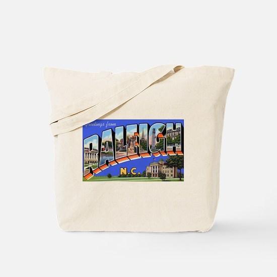 Raleigh North Carolina Greetings Tote Bag