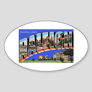 Raleigh North Carolina Greetings Oval Sticker