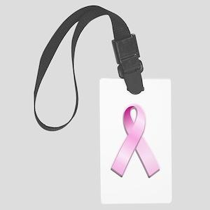 Pink Ribbon Large Luggage Tag