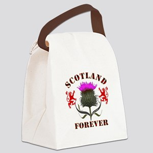 Scotland Forever Thistle Canvas Lunch Bag