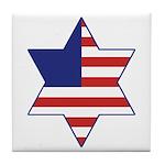 American Star of David Tile Coaster