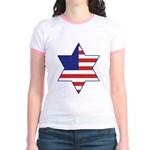 American Star of David Jr. Ringer T-Shirt