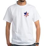 American Star of David White T-Shirt
