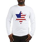 American Star of David Long Sleeve T-Shirt