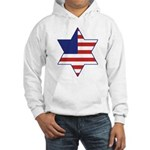 American Star of David Hooded Sweatshirt