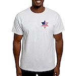 American Star of David Ash Grey T-Shirt