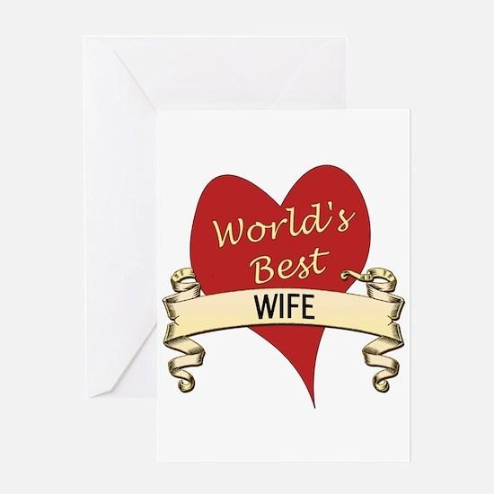 Cute Greatest wife Greeting Card