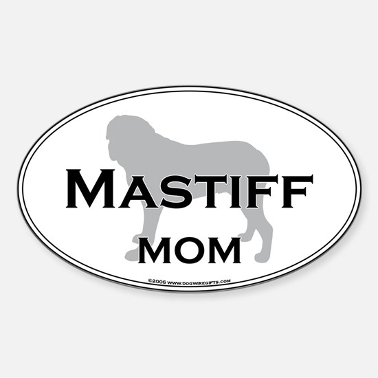 Mastiff MOM Oval Decal