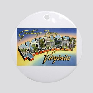 Richmond virginia gifts cafepress richmond virginia greetings ornament round negle Images