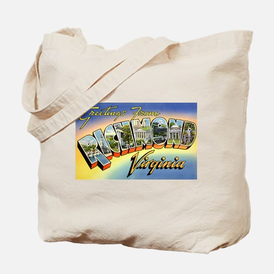 Richmond Virginia Greetings Tote Bag