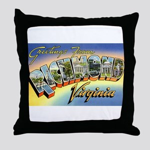 Richmond Virginia Greetings Throw Pillow