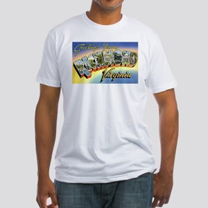 Richmond Virginia Greetings (Front) Fitted T-Shirt
