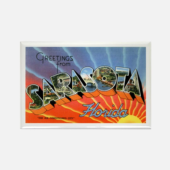 Sarasota Florida Greetings Rectangle Magnet