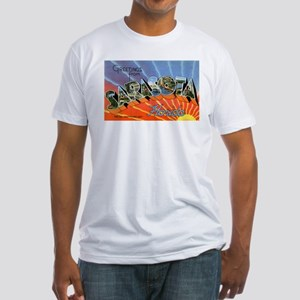 Sarasota Florida Greetings (Front) Fitted T-Shirt