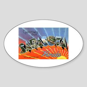 Sarasota Florida Greetings Oval Sticker