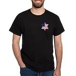 American Star of David Black T-Shirt