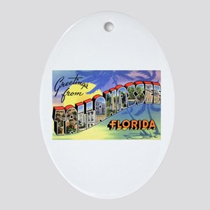 Tallahasse Florida Greetings Oval Ornament
