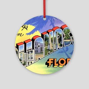 Tallahasse Florida Greetings Ornament (Round)